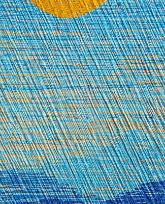 MOONSHADOW 2 , 16 x 48 x 2 Acrylic paint on wood. (Desert Series)