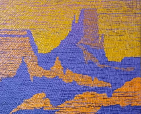 A TIMELESS BREATH 33 x 48 x 2 Acrylic paint on wood. (Desert Series)